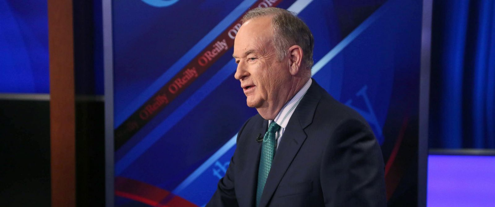 """PHOTO: Host Bill OReilly appears on """"The OReilly Factor"""" on The FOX News Channel, March 17, 2015 in New York City."""