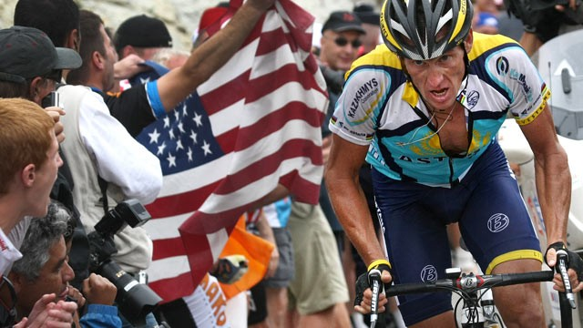 PHOTO: Lance Armstrong competes in the Tour de France, July 22, 2009.