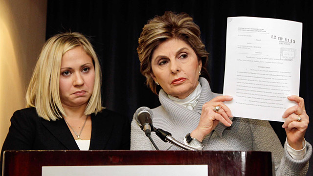 PHOTO: Gloria Allred and client Alison Fournier
