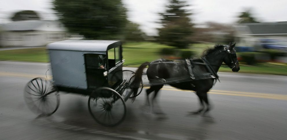 PHOTO: This Oct. 6, 2006 file photo shows a horse draws an Amish carriage through Georgetown in Bart Township Pennsylvania.