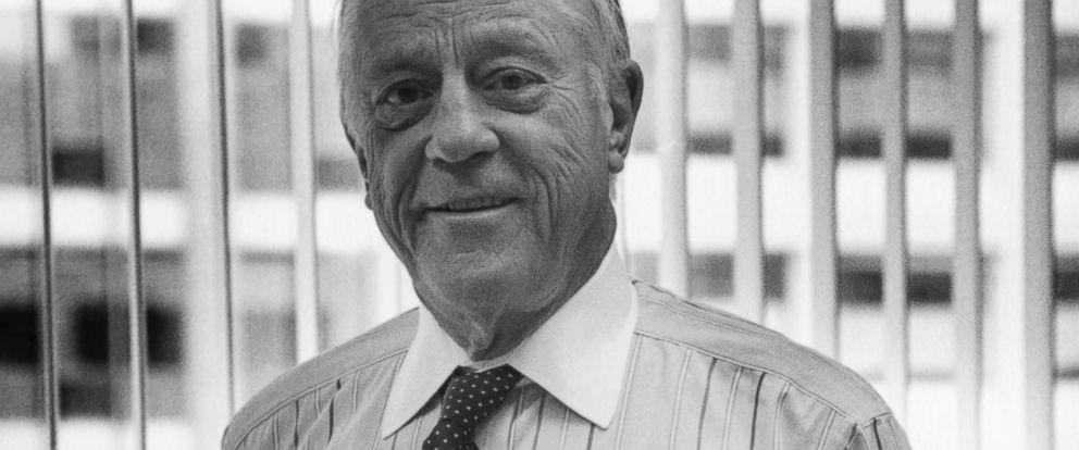 PHOTO: Portrait of former Washington Post Executive Editor, journalist Ben Bradlee, Washington DC, 1994.