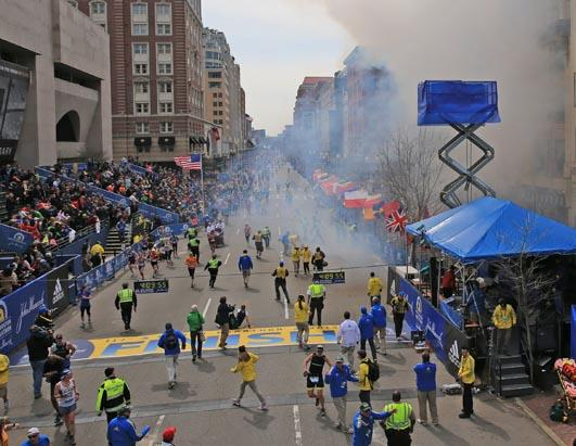 Boston Marathon Explosions Near Finish Line