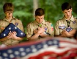 PHOTO: Boyscouts from Troop 1367 participate in a flag retirement ceremony in  Woodbridge, Va., June 14, 2011.