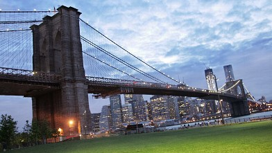 The Brooklyn Bridge is shown in this June 11, 2012 photo in New York.