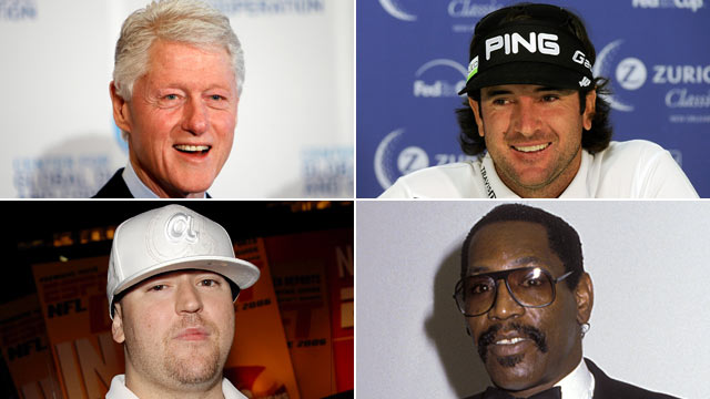 PHOTO: Famous people who have been nicknamed Bubba, are seen here in this montage.