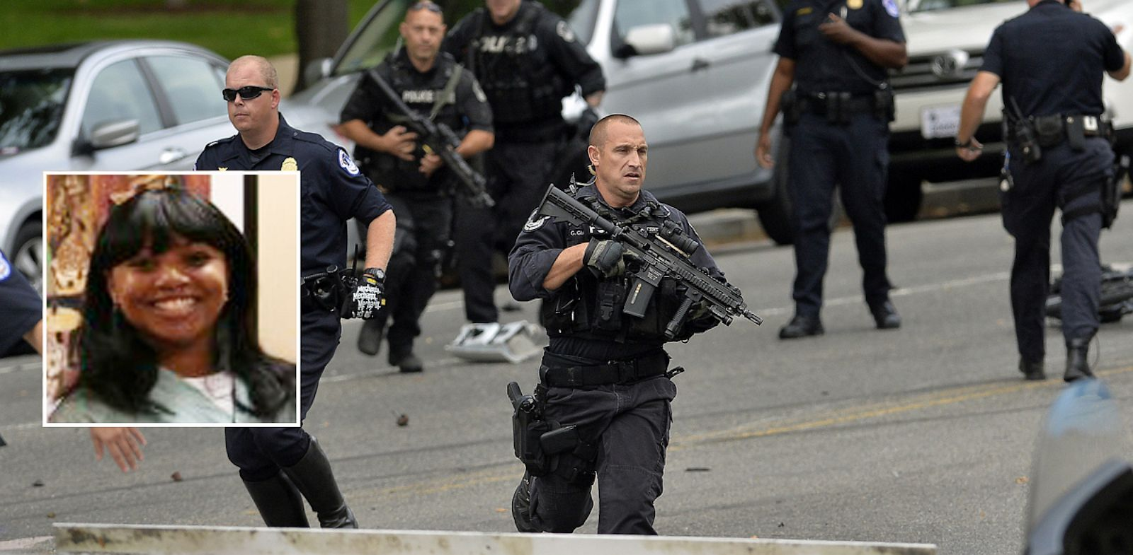 PHOTO: Police respond to reports of shots fired on Capitol Hill in Washington, Oct. 3, 2013.