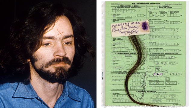 "PHOTO: Several websites in the United States sell ""murderabilia,"" like this lock of hair from Charles Manson."