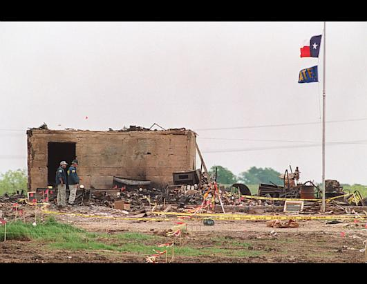 Alcohol, Tobacco and Firearms Agents Raid David Koresh Cult Compound