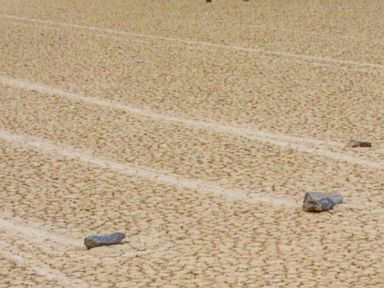 PHOTO: The Racetrack Playa in Death Valley National Park is known for these mysterious sliding stones.