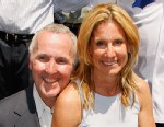 PHOTO: Team owner Frank McCourt, left,  and wife Jamie attend a special star ceremony honoring the Los Angeles Dodgers with an Award of Excellence on the Hollywood Walk of Fame, June 20, 2008, in Hollywood, Calif.