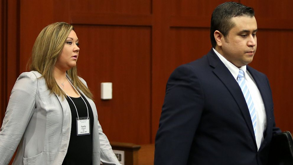 George Zimmerman and his wife Shellie arrive in Seminole circuit court June 20, 2013 in Sanford, Florida.