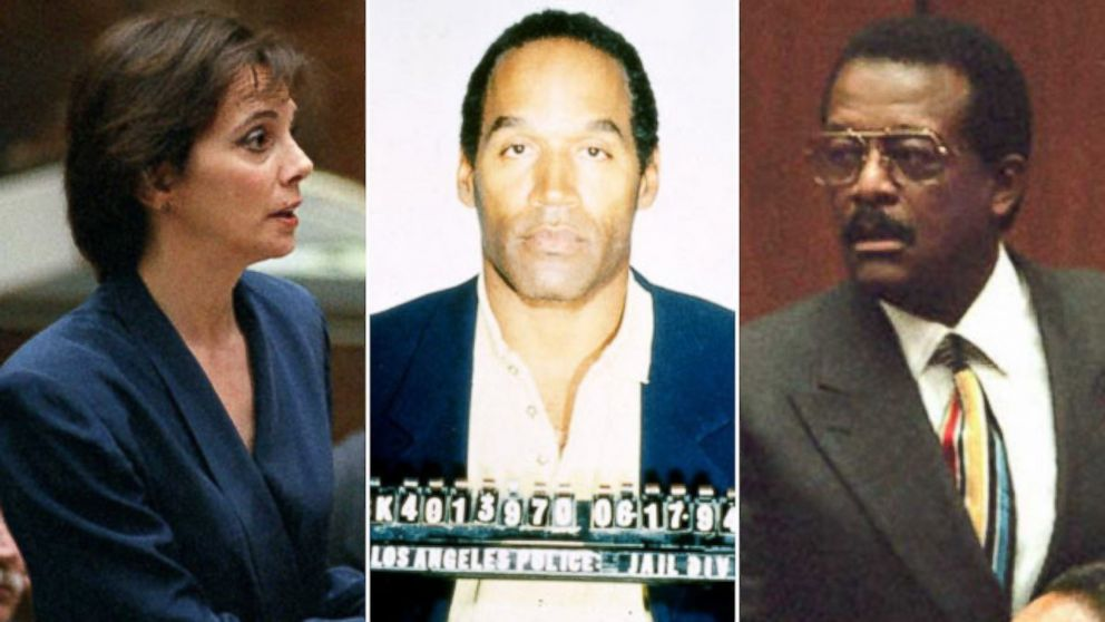 PHOTO: Marcia Clark, left, OJ Simpson, center, and Johnnie Cochran, right, during the course of the sensational OJ Simpson murder trial in 1995.