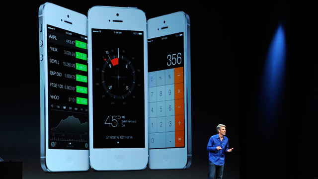PHOTO: Craig Federighi, vice president of software engineering at Apple Inc., speaks during the keynote of the World Wide Deve