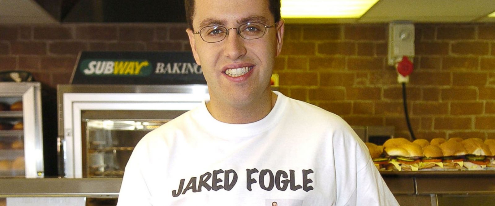 "PHOTO: Jared Fogle launches ""Fight The Fat"" Campaign at Subway in this file photo, June 27, 2005, in London."