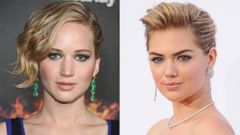 PHOTO: Jennifer Lawrence is pictured in Cannes, France on May 17, 2014 and Kate Upton is seen in Westwood, Calif. on April 21, 2014.