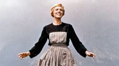 PHOTO: Actress Julie Andrews performs musical number in the movie The Sound Of Music directed by Robert Wise.