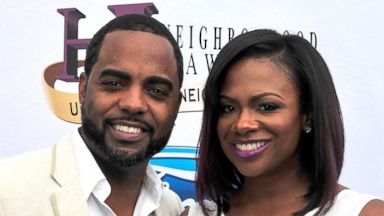 PHOTO: Todd Tucker and Kandi Burruss attend the 2014 Ford Neighborhood Awards Hosted By Steve Harvey on August 9, 2014 in Atlanta, Georgia.
