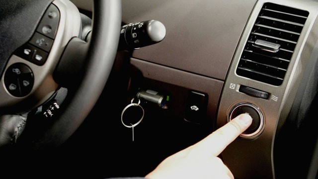 PHOTO: The ignition button of keyless ignition is shown in this file photo.