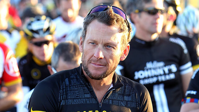 PHOTO: Lance Armstrong waits at the starting line, at his Team Livestrong Challenge bike ride, in this Oct. 15, 2011 file photo, in Dripping Springs, Texas.