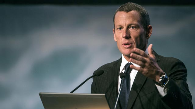 PHOTO: Global cancer advocate Lance Armstrong, chairman and founder of Livestrong, spe