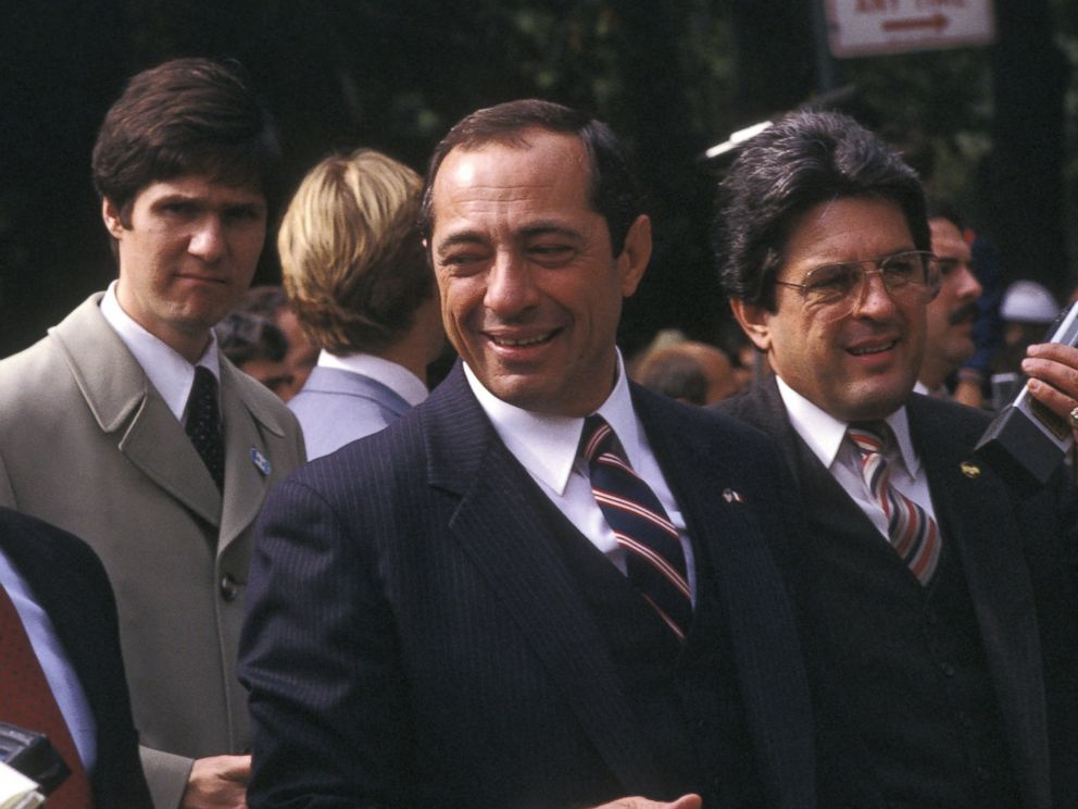 PHOTO: Governor Mario Cuomo appears during the annual Columbus Day Parade at Fifth Avenue on Oct. 8, 1984 in New York City.