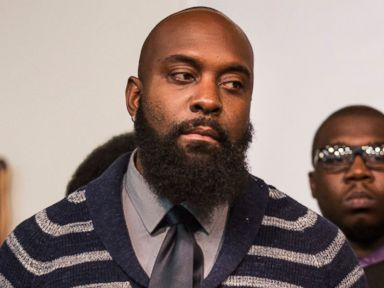 PHOTO: Michael Brown Sr, father of Michael Brown Jr, at a press conference on Nov. 26, 2014 in New York City.   Ferguson police Officer Darren Wilson, pictured in an evidence photo released by the St. Louis County Prosecutors Office on Nov. 24, 2014.