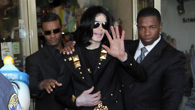 PHOTO: Michael Jackson is seen exiting Tom's Toys in this May 15, 2009 file photo in Beverly Hills, California.