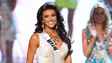 Miss Utah USA Marissa Powell is named a top 15 finalist during the 2013 Miss USA pageant at PH Live at Planet Hollywood Resort & Casino, June 16, 2013 in Las Vegas, Nevada.