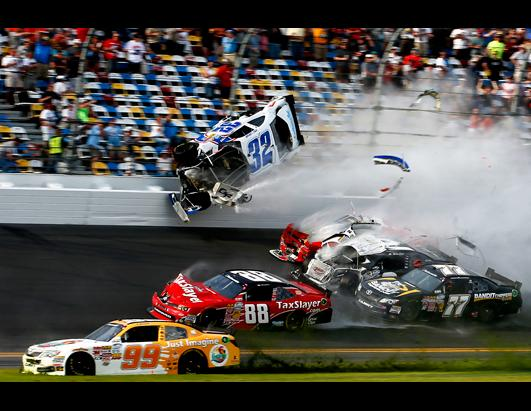 Horrific Multi-car Crash Mars End of Race