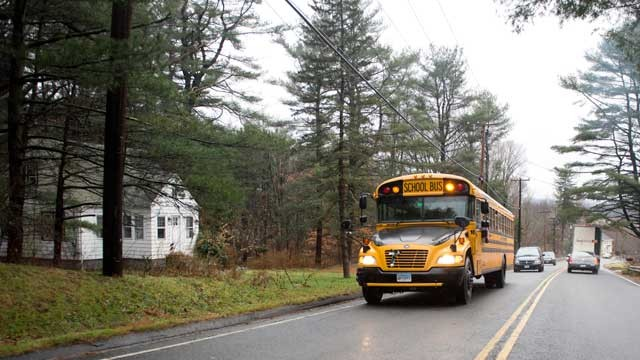PHOTO: A school bus drives, Dec. 18, 2012 in Newtown, Connecticut.