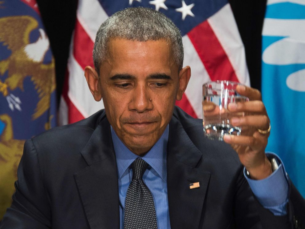 Obama Drinks Flint's Filtered Water During Visit to 'Shine ...
