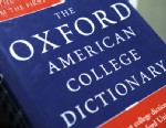 View of the Oxford American College dictionary taken in Washington, Nov. 16, 2009.