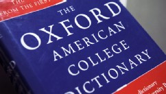 PHOTO: The Oxford American College dictionary is shown in Washington, in this Nov. 16, 2009 photo.