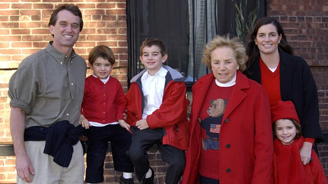 PHOTO: Robert F. Kennedy Jr. and wife Mary Richardson Kennedy are shown in a 2001 family photo with Ethel Kennedy.