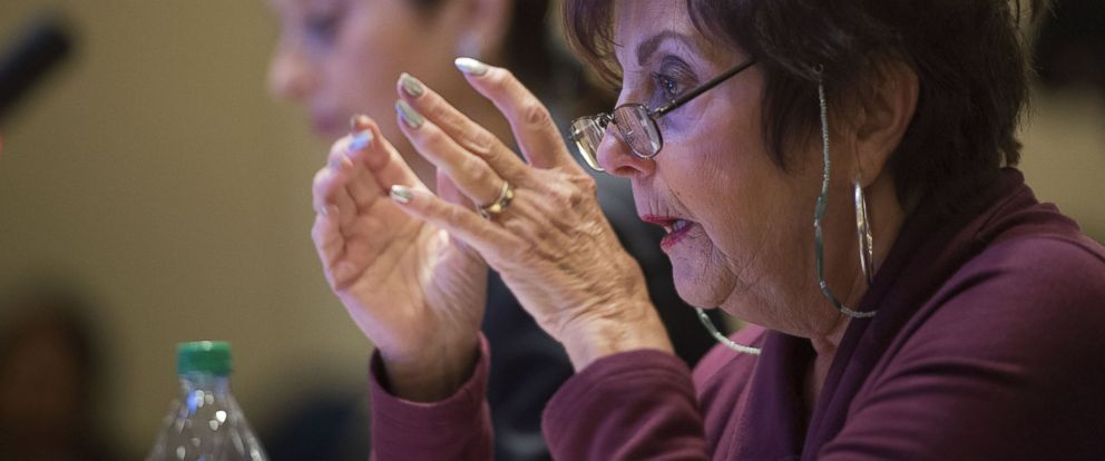 PHOTO: Holocaust survivor Rosette Goldstein speaks while testifying before the Maryland House Ways and Means Committee on a Holocaust reparations bill in Annapolis, Md., March 10, 2013.