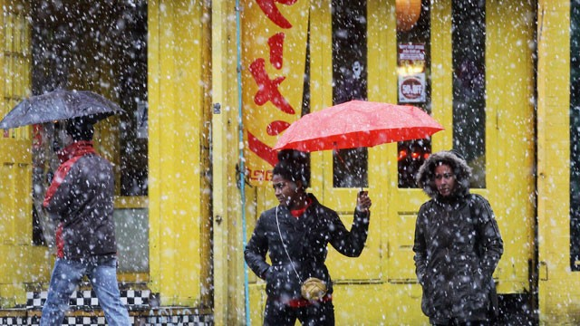 PHOTO: Winter Storm: Nor'easter Brings Snow, Rain to East Coast