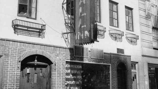 PHOTO: Stonewall Inn, site of the 1969 Stonewall riots, New York City.