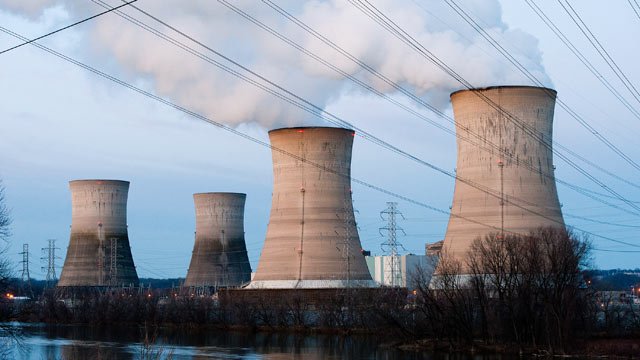 PHOTO: The Three Mile Island Nuclear Plant is seen in the early morning hours in this March 28, 2011 file photo in Middletown, Pennsylvania.
