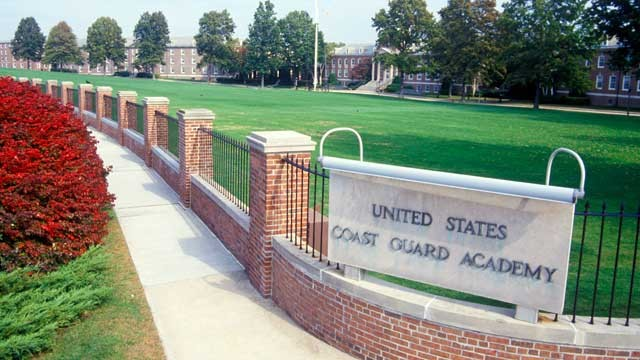 PHOTO: Five civilian employees and an active duty service member have been disciplined for sexual misbehavior at the US Coast Guard Academy.