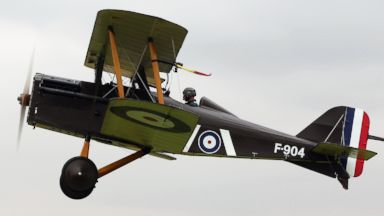 PHOTO: The SE5a takes part in demonstration flight at The Shuttlesworth Collection at Old Warden on July 21, 2014 in Biggleswade, England.