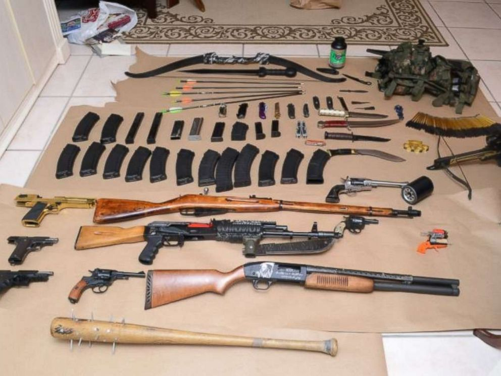 PHOTO: Authorities found an arsenal of weapons inside the home of Dunedin, Fla., resident Randall Drake while conducting a child pornography investigation, according to the Pinellas County Sheriffs Office.