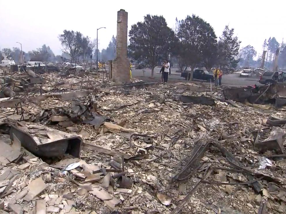 PHOTO: One Northern California woman who saved everything to buy her house is forced to start over now that her entire home was destroyed from a wildfire.