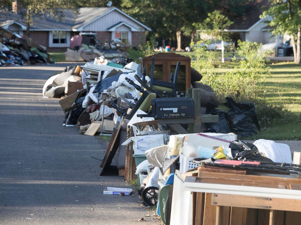 Lovely Houston Christmas Tree Pickup Part - 3: PHOTO: Garbage Is Seen At The Pinewood Subdivision Outside Sour Lake,Texas,  Sept