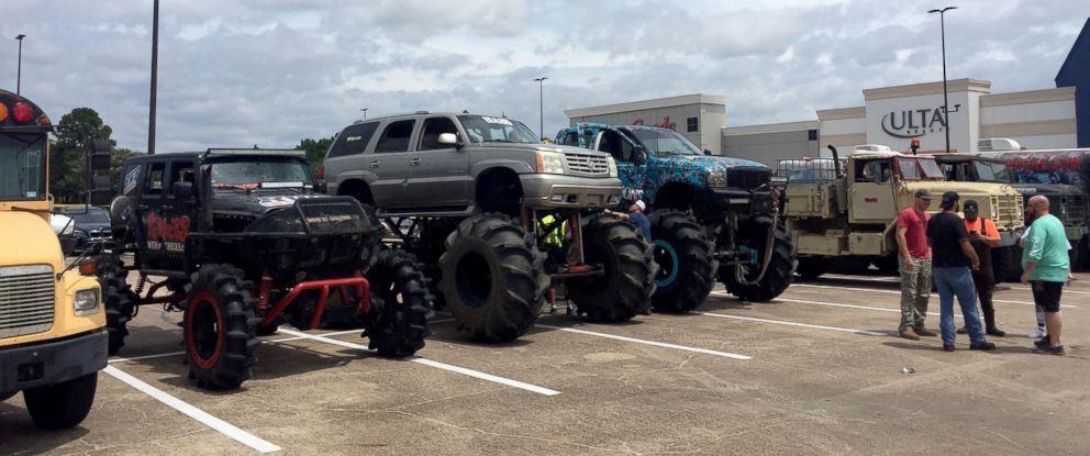 Fleet Of Monster Trucks Conducts Rescues In Flood Ravaged Texas