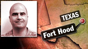The suspected gunman in the shooting at Fort Hood, Texas, has been identified as Army Maj. Nidal Malik Hasan, a psychiatrist trained by the military.