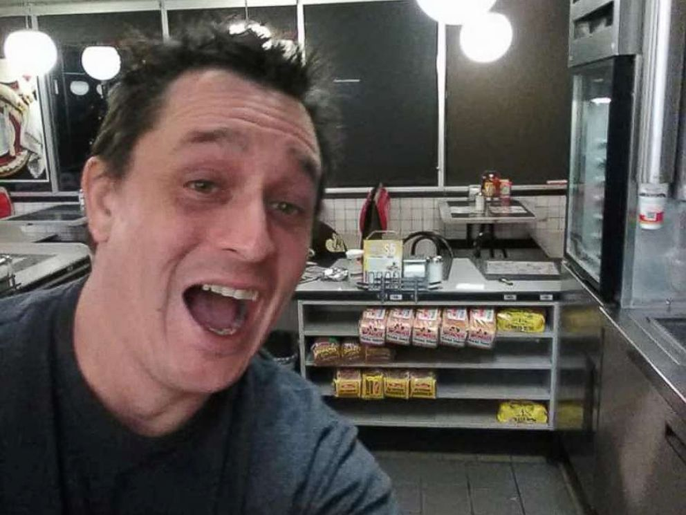 Alex Bowen cooked up his own meal at an empty Waffle House in West Columbia S.C