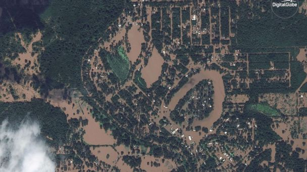 Harveys Historic Flooding Seen In Before And After Satellite - Satellite maps texas