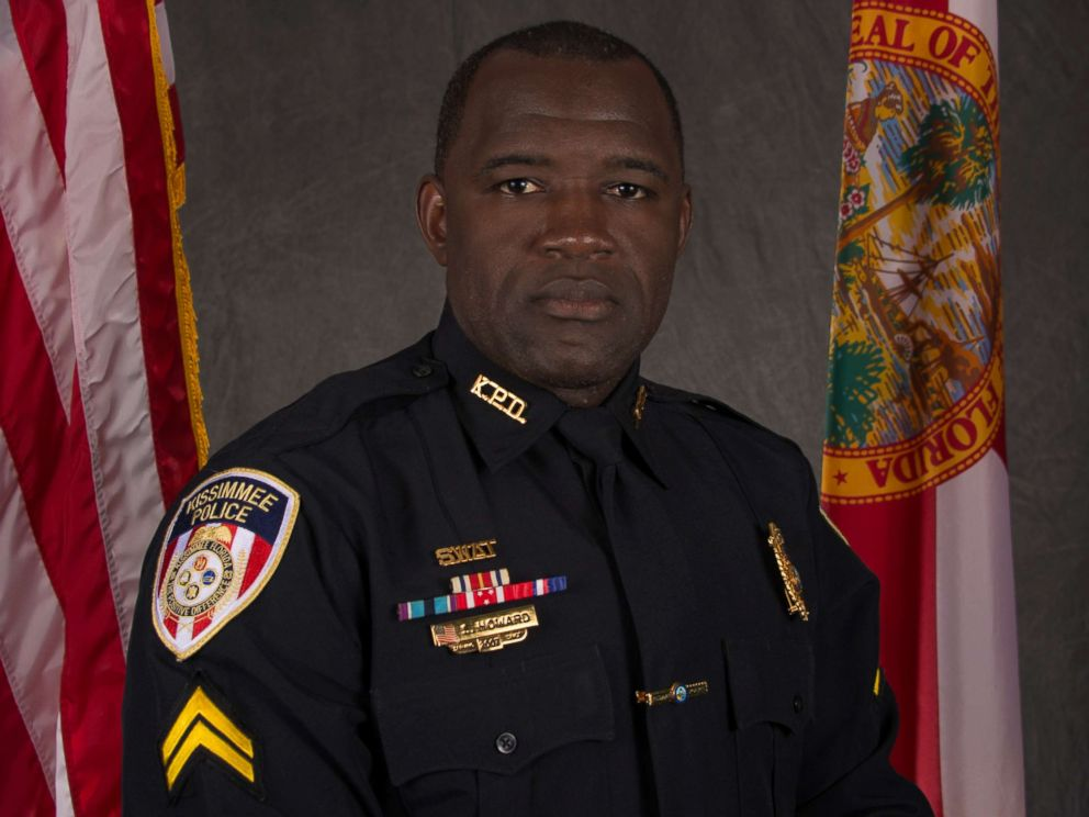 """PHOTO: Sgt. Sam Howard, a 10-year veteran of the Kissimmee Police Department, was in grave critical condition"""" after he was shot on Friday August 19, 2017."""