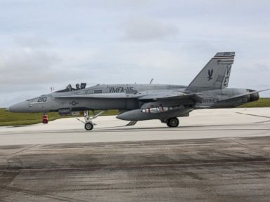 PHOTO: A U.S. Marine Corps F/A-18C Hornet aircraft with Marine Fighter Attack Squadron 115, (VMFA-115), taxies to the runway during Valiant Shield 16 at Andersen Air Force Base, Guam, Sept. 14, 2016.