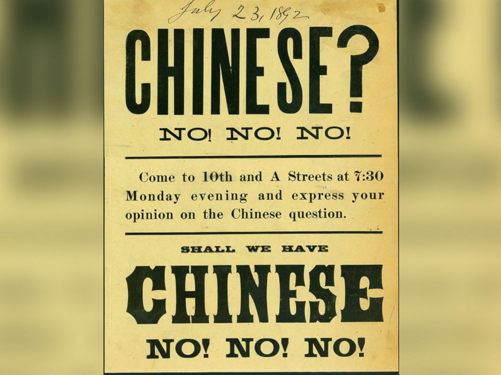 PHOTO: A handbill for an anti-Chinese rally held on July 23, 1892 in Takoma, Wash.